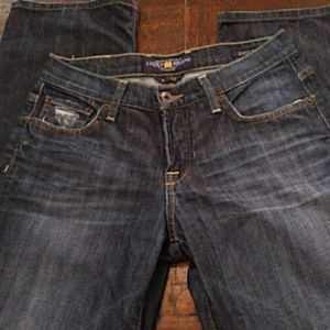 Lucky Brand distressed easy rider jeans